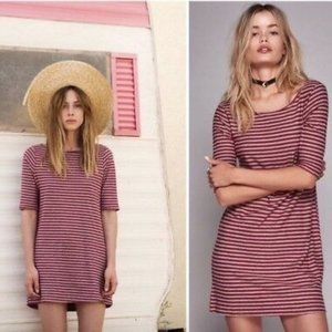 Free People We the Free Frenchie Tee Dress in Red